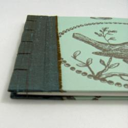 Wedding Guest Book, Bird and Nest - Japanese Stab Stitch - Ready to Ship