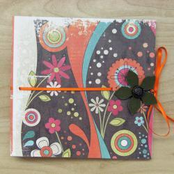 Funky Nonsense Bright Mini Scrapbook 6x6 ins, in Warm Colors